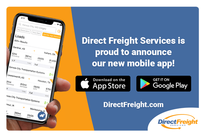 Direct Freight – Make your loads available anytime, anywhere