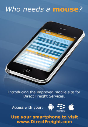 Mobile Direct Freight site