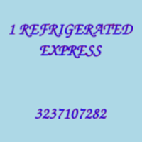 1 REFRIGERATED EXPRESS